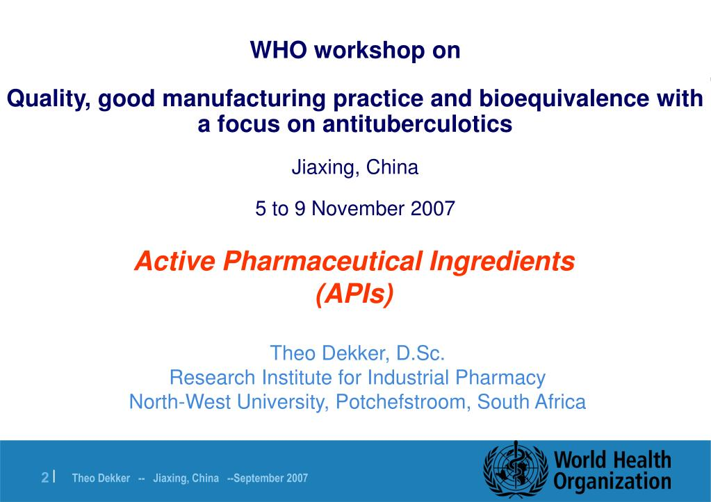 WHO workshop on