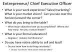 entrepreneur chief executive officer