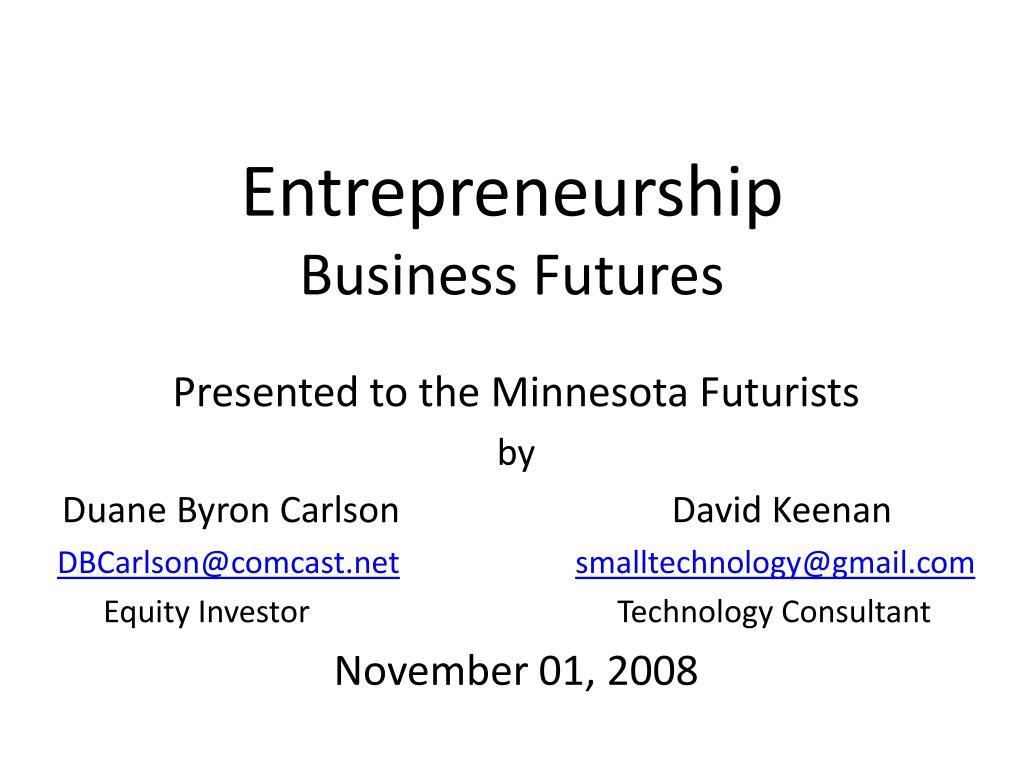 entrepreneurship business futures
