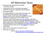 hp memristor team