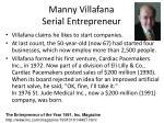 manny villafana serial entrepreneur