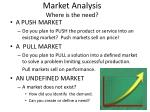 market analysis where is the need