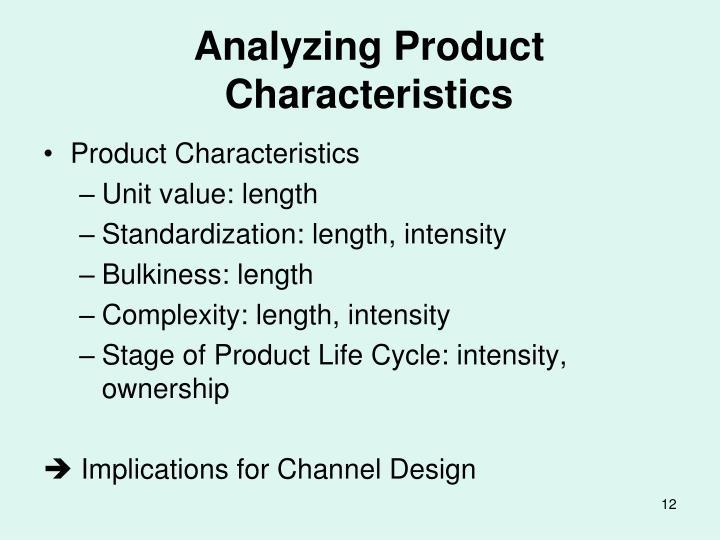 Analyzing Product Characteristics