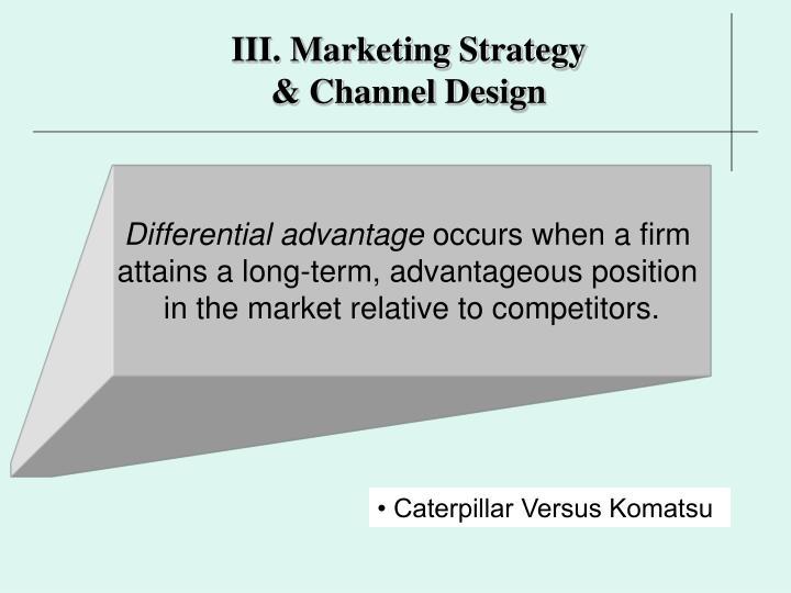 III. Marketing Strategy