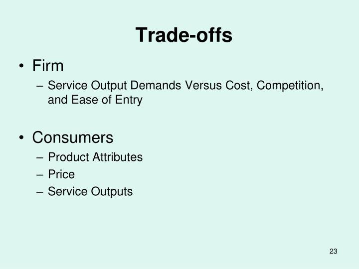 Trade-offs