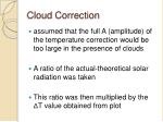 cloud correction