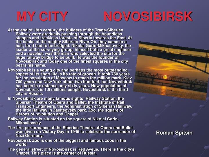 MY CITY          NOVOSIBIRSK