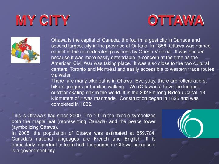 MY CITY                     OTTAWA