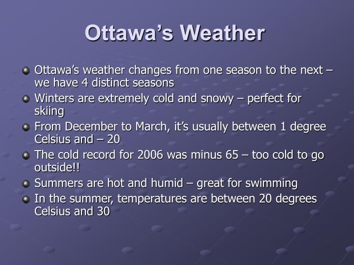 Ottawa's Weather