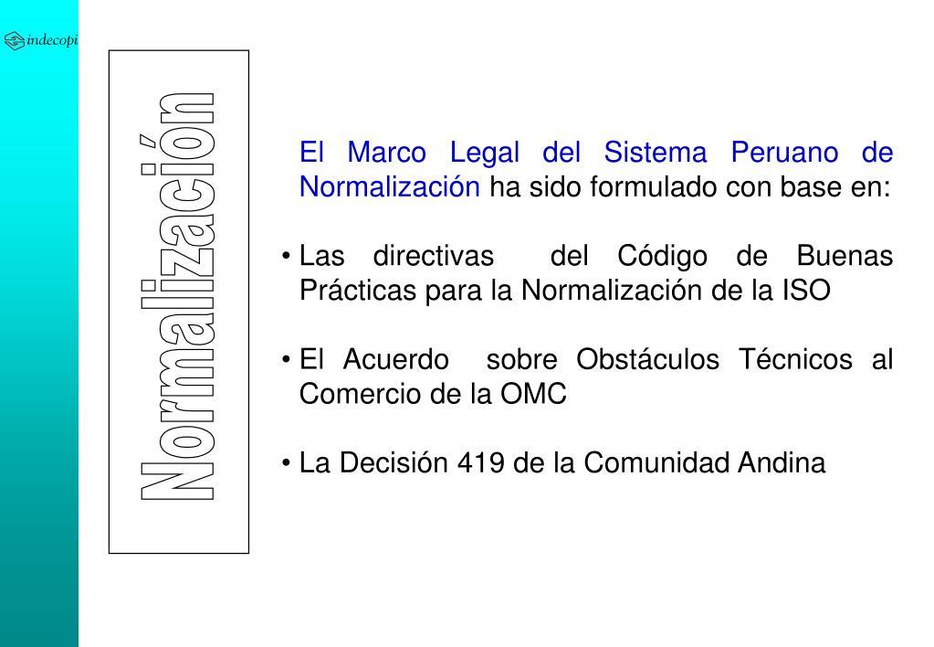 El Marco Legal del Sistema Peruano de Normalización