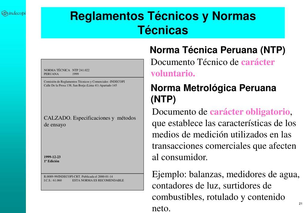 Reglamentos Técnicos y Normas Técnicas