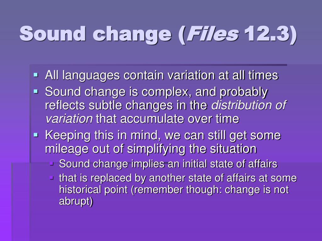 Sound change (