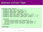 abstract colour type
