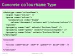 concrete colourname type