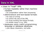 data in xml5
