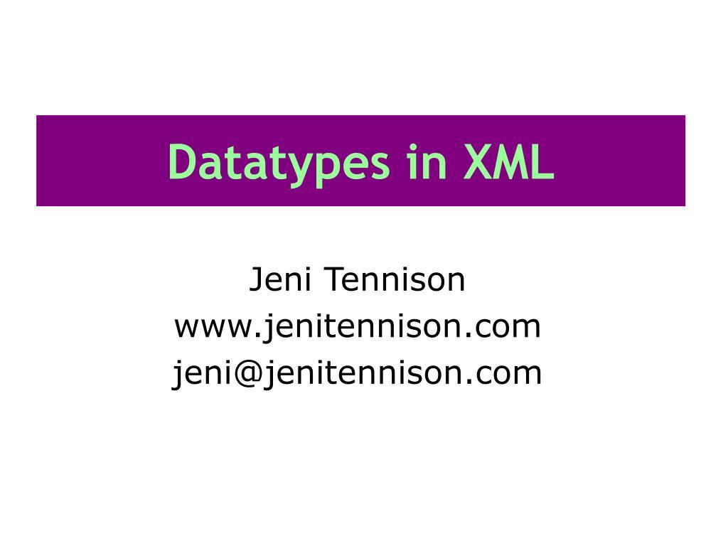 datatypes in xml