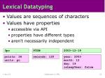 lexical datatyping