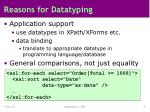 reasons for datatyping7