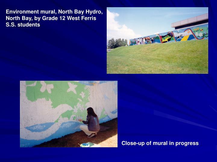 Environment mural, North Bay Hydro,