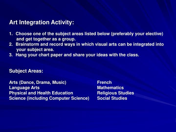 Art Integration Activity: