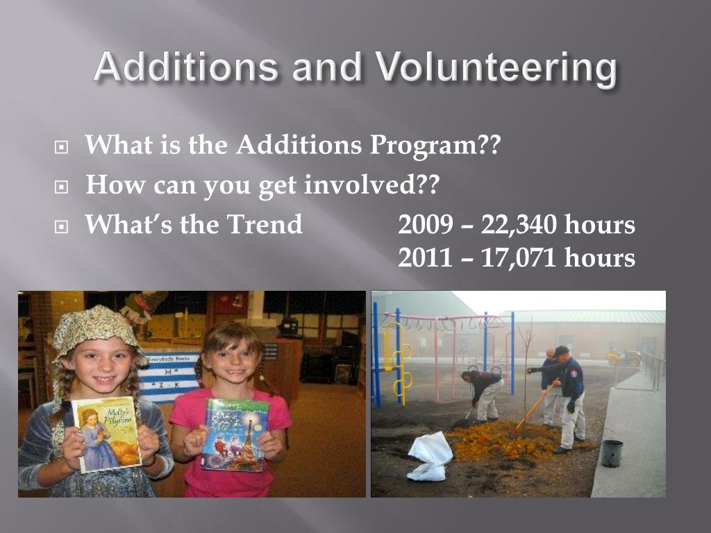 Additions and Volunteering