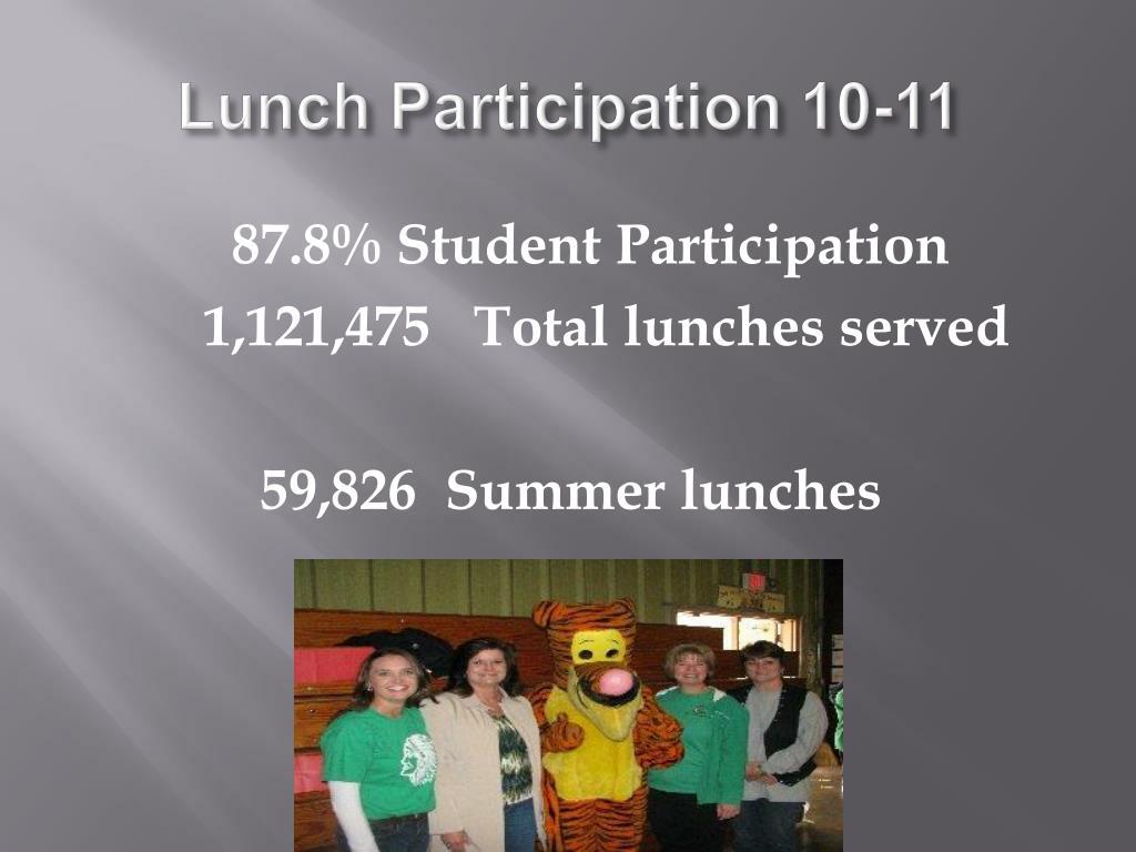 Lunch Participation 10-11