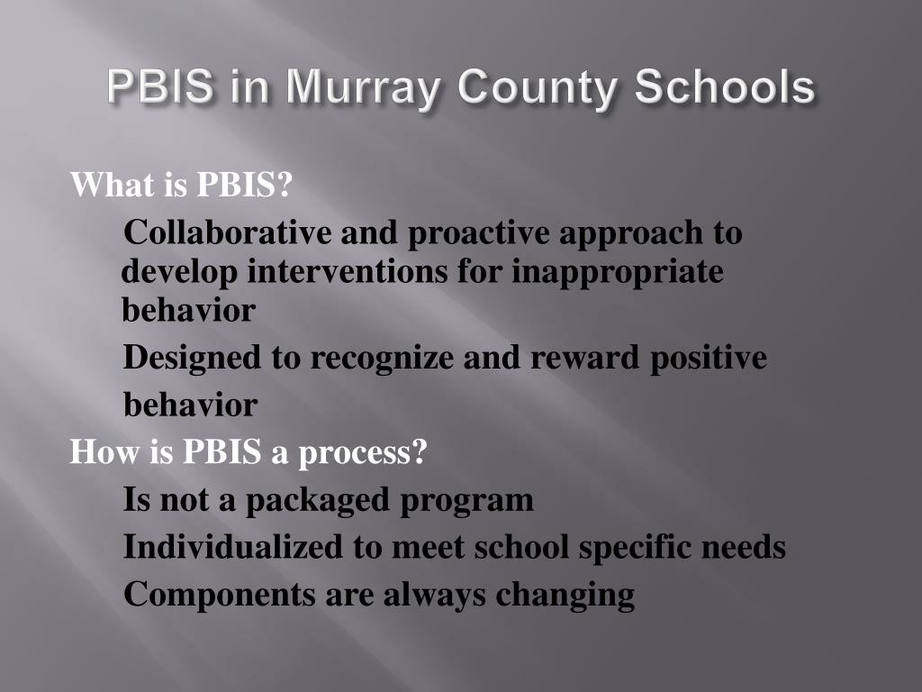 PBIS in Murray County Schools