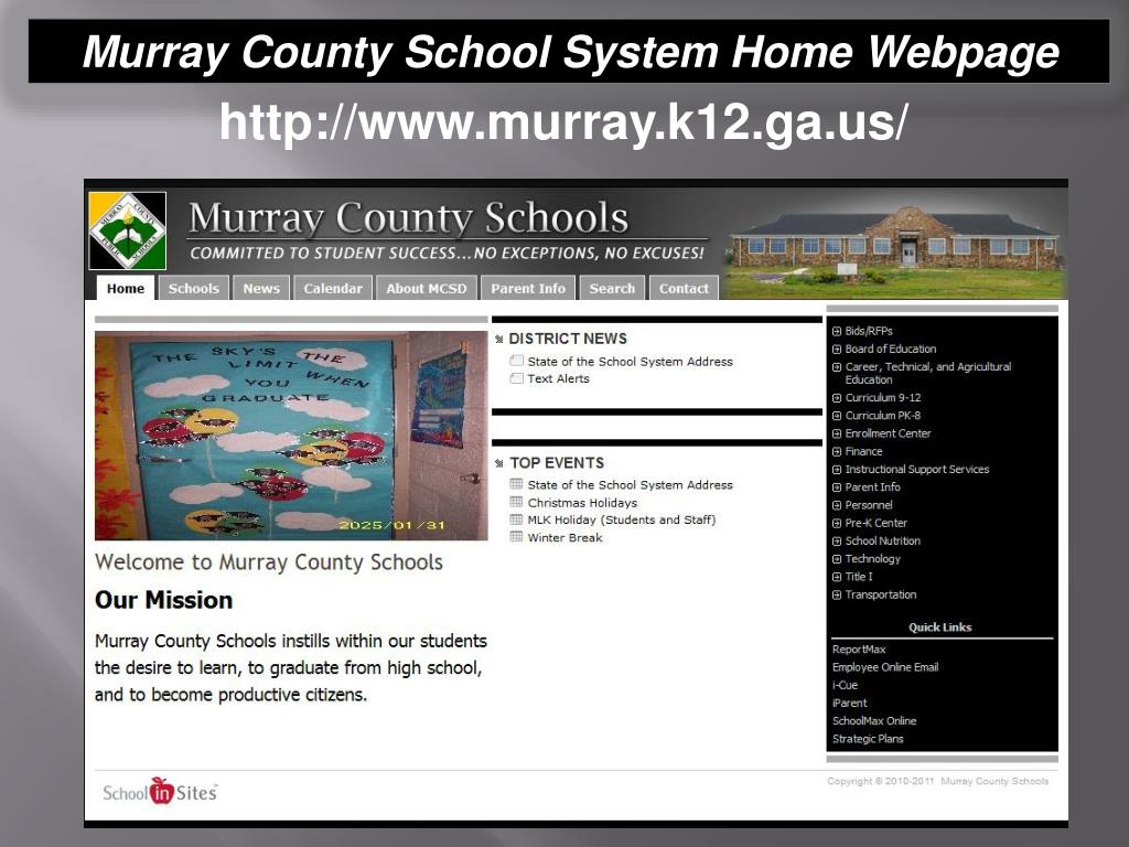 Murray County School System Home Webpage
