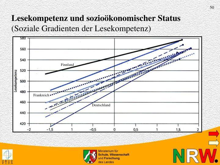 Lesekompetenz und sozioökonomischer Status