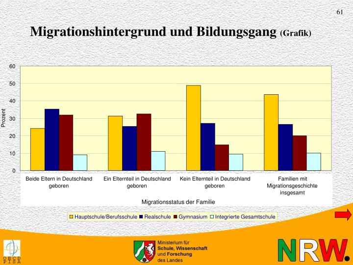 Migrationshintergrund und Bildungsgang