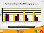 migrationshintergrund und bildungsgang grafik
