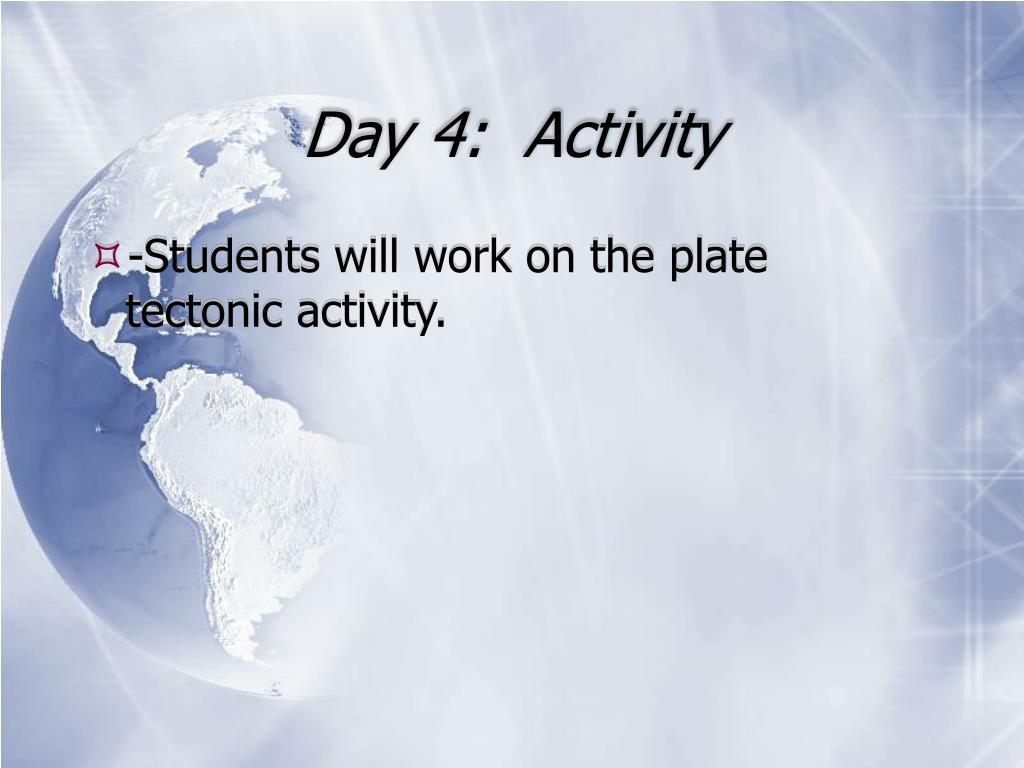 Day 4:  Activity