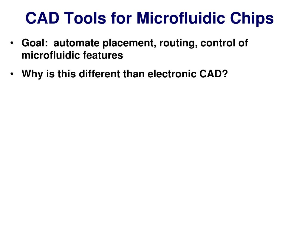CAD Tools for