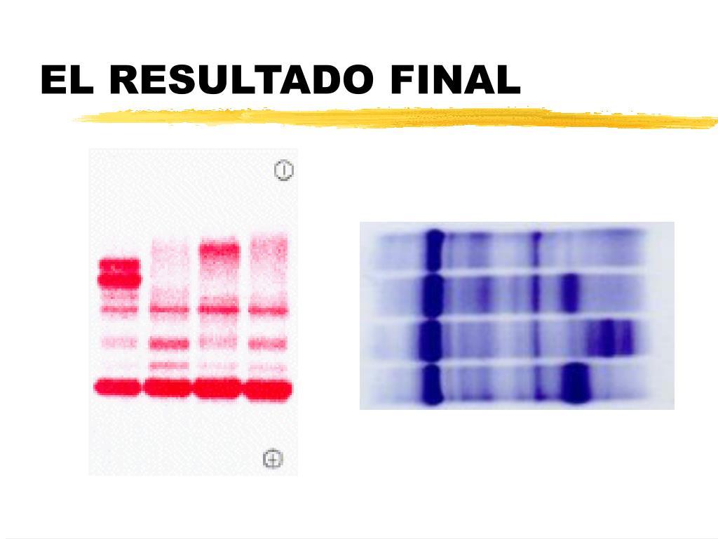 EL RESULTADO FINAL