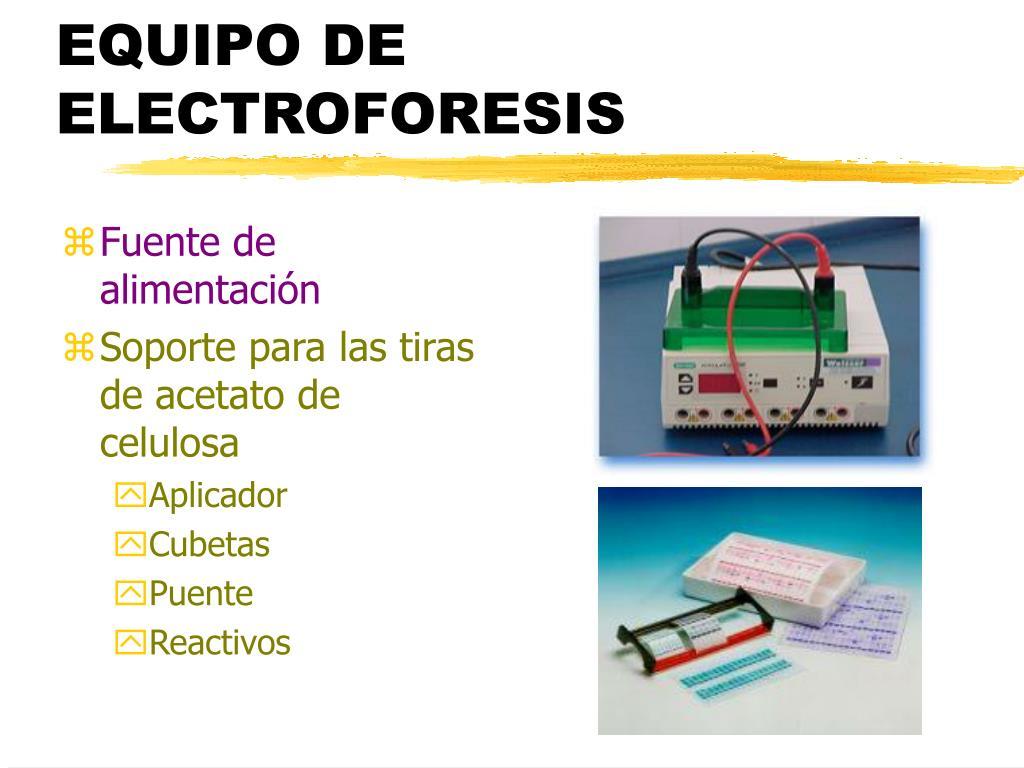 EQUIPO DE ELECTROFORESIS