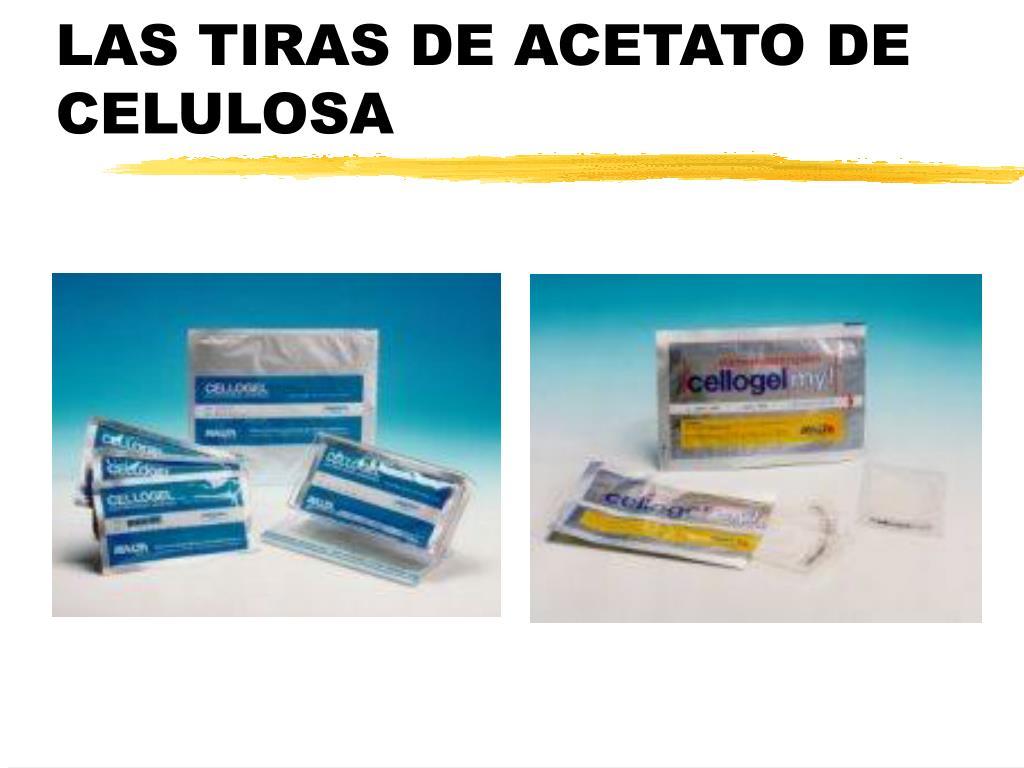 LAS TIRAS DE ACETATO DE CELULOSA