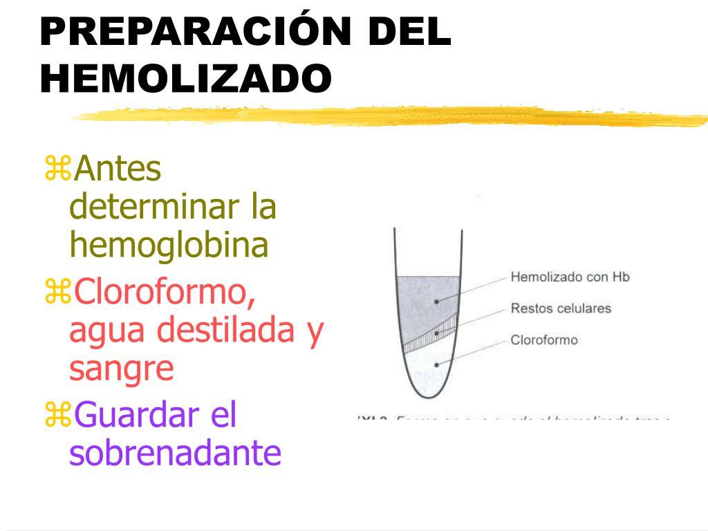 PREPARACIÓN DEL HEMOLIZADO