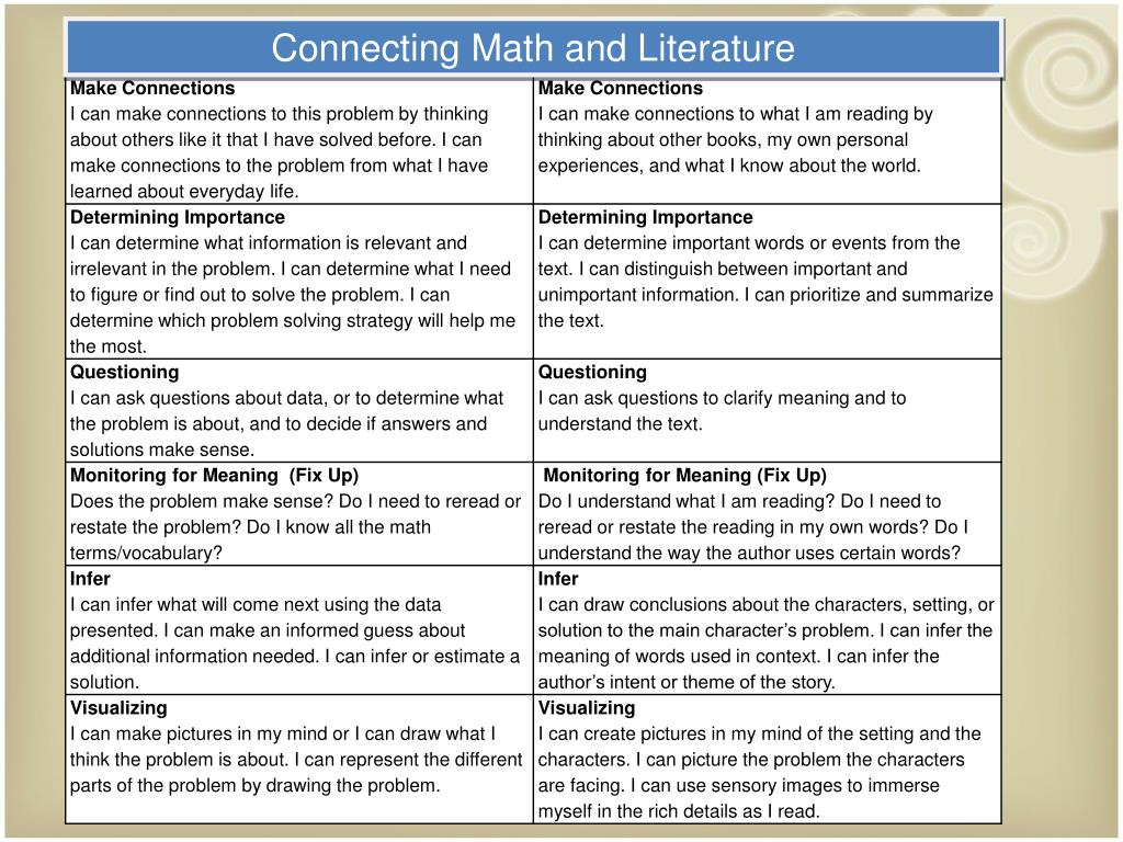 Connecting Math and Literature