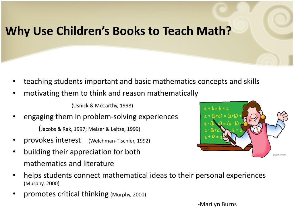 Why Use Children's Books to Teach Math?