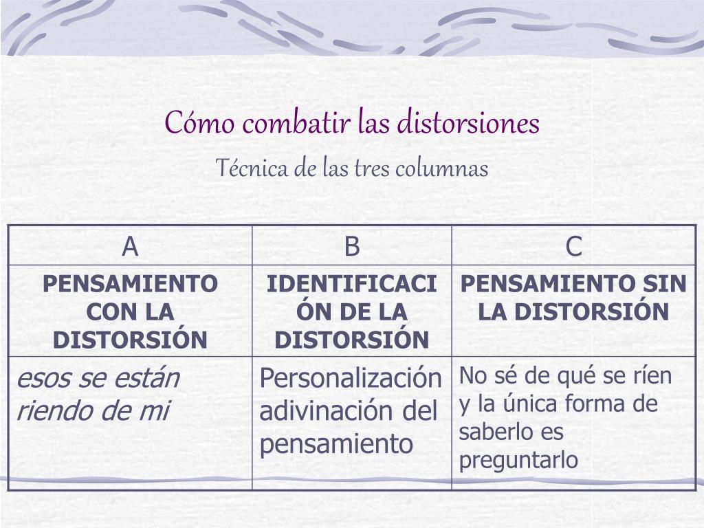 Cómo combatir las distorsiones