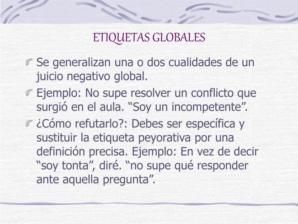 ETIQUETAS GLOBALES