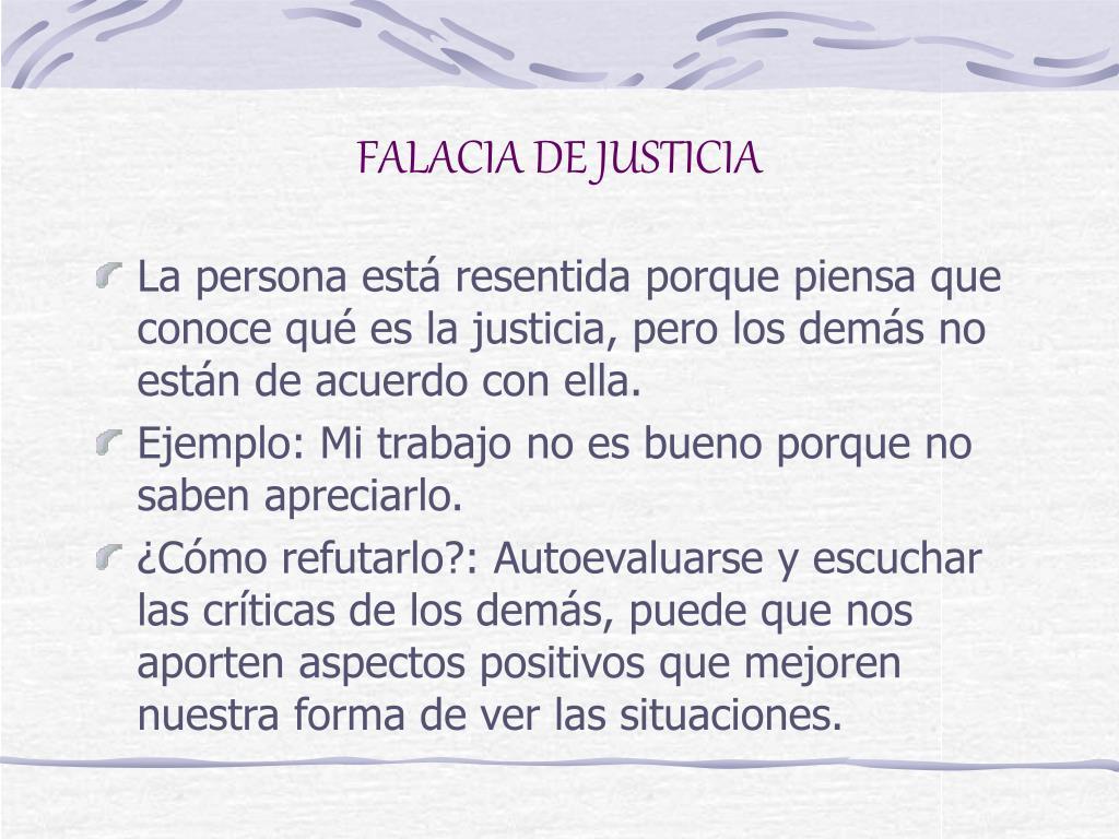 FALACIA DE JUSTICIA