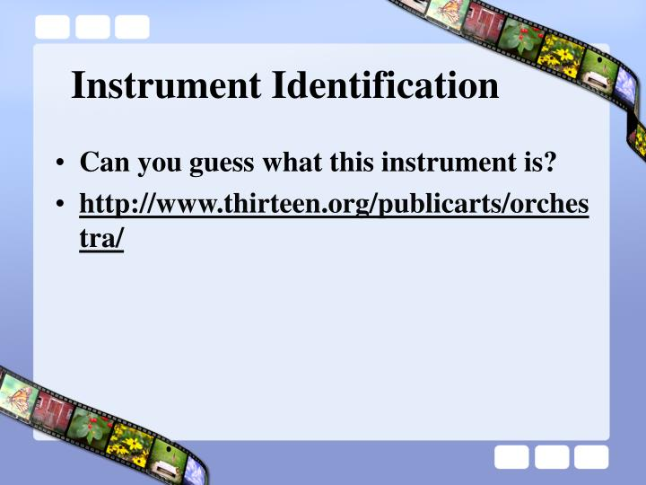 Instrument Identification