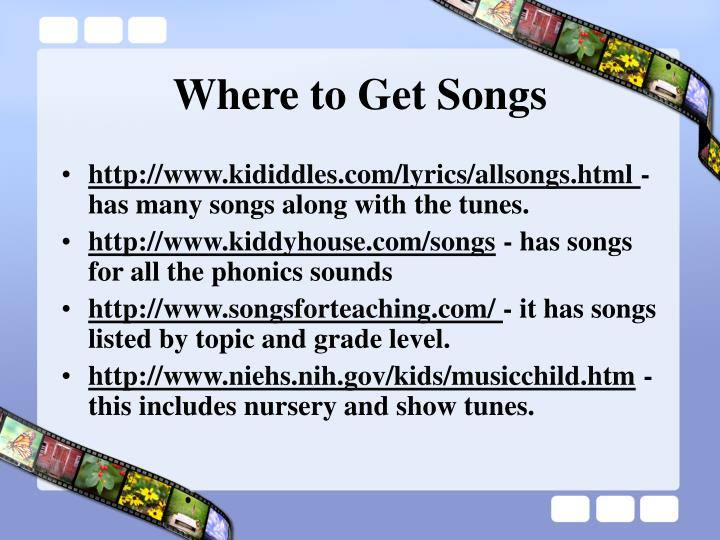 Where to Get Songs
