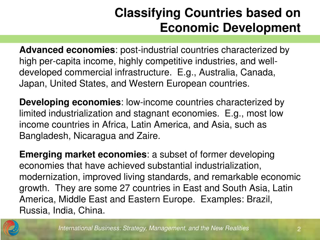 Classifying Countries based on