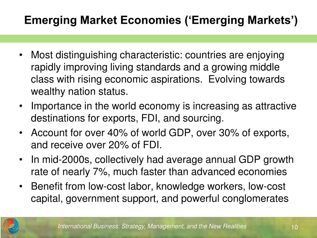 Emerging Market Economies ('Emerging Markets')