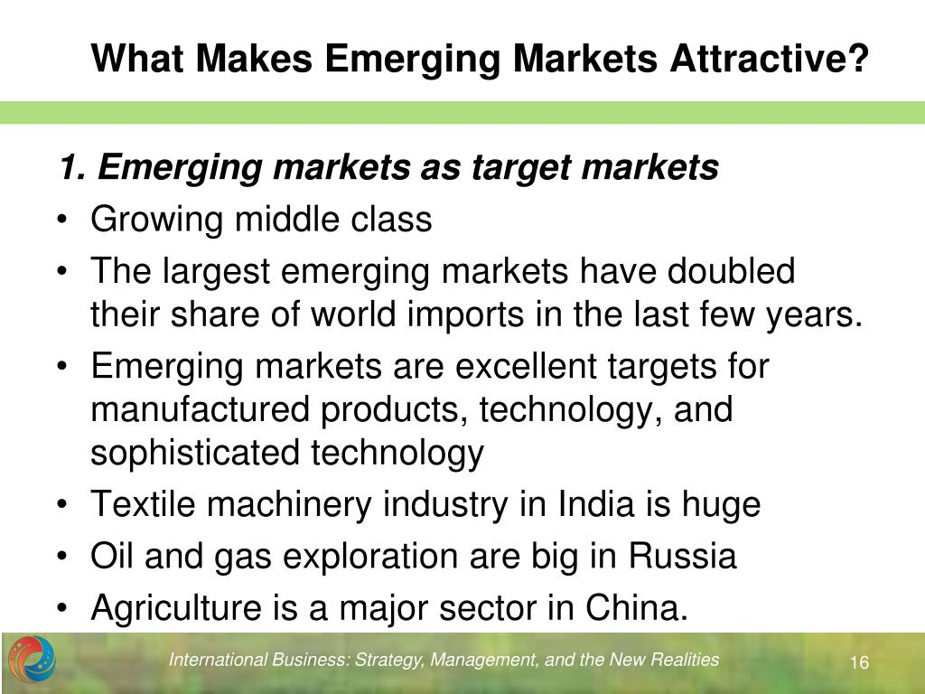What Makes Emerging Markets Attractive?