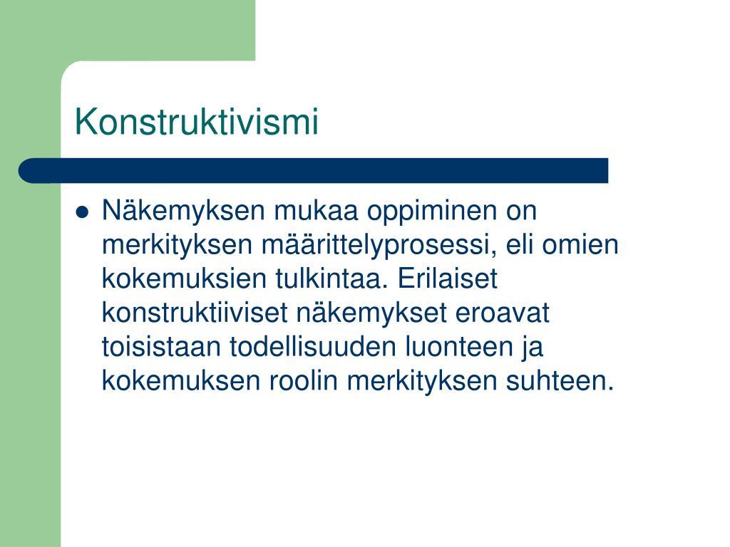Konstruktivismi