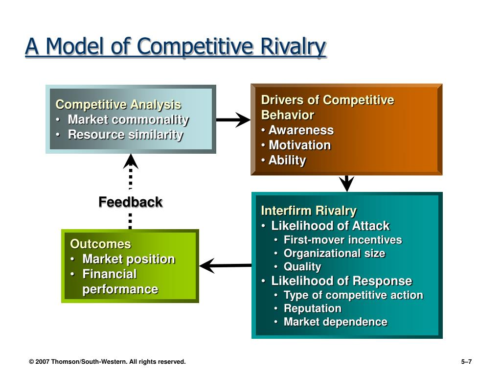 Drivers of Competitive Behavior