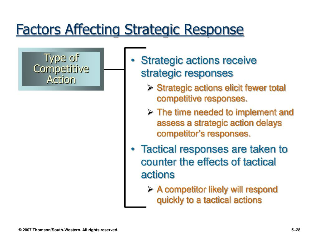Strategic actions receive strategic responses